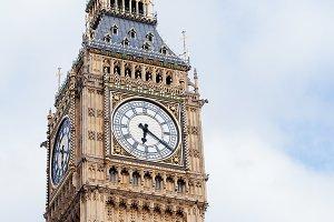 Popular tourist Big Ben tower in Lon