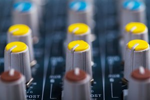 Music mixer console equipment to wri