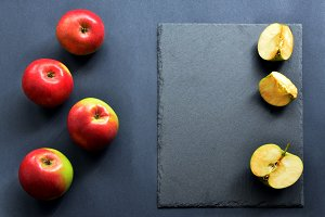 Flat Lay with apples