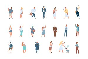 People flat vector characters