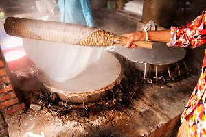 Making Rice Paper in Vietnam