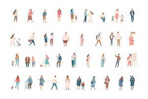 Vector flat people. Set 1