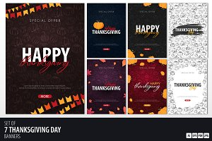7 Thanksgiving day banners