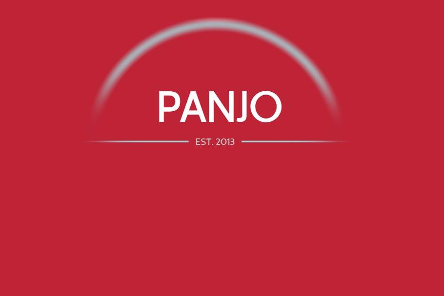 Panjo Desktop & Web font