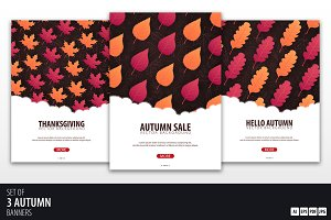 Autumn Web banners