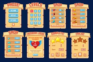 2d Cartoon Game Ui Asssets