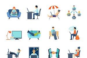 Freelance icons set