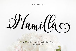 Namilla Script Font Duo