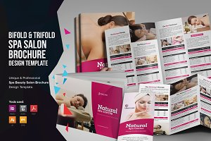 Spa Salon Bifold-Trifold Brochure