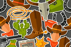 Wild west seamless patterns.