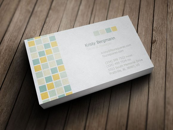 Four tiles service business card business card templates four tiles service business card business card templates creative market colourmoves