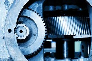 Gear machine elements close up