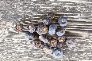 rotten spoiled blueberries