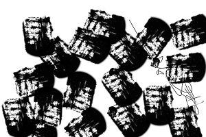 Abstract Black Blocks