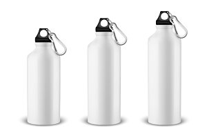 Water bottle. Vector set.