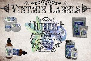 Blueberry Vintage Labels