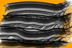 Unique Abstract in Black and Orange