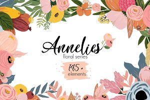 annelies floral graphic set