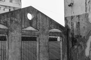 Vintage Building in Black and White