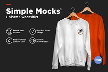 Unisex Sweatshirt Mockup by  in Product Mockups