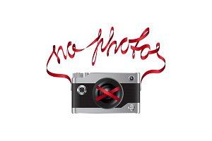 No photos fashion print with camera