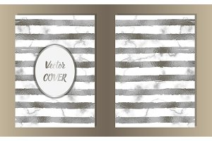 Stripe Silver Foil and Marble Coves