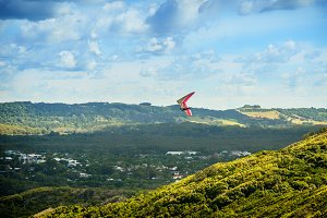 Hang Gliding over the Valley