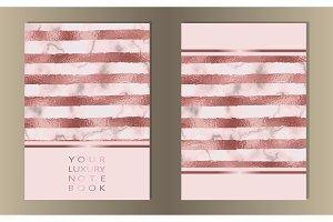 Stripe Pink Foil, Marble Cover Set