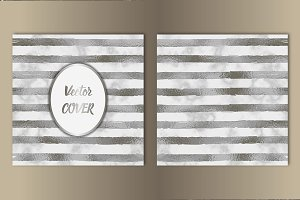 Stripe Silver Foil and Marble Cover