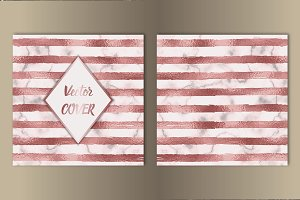 Stripe Pink Foil and Marble Cover