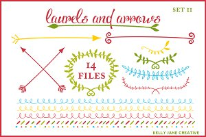 Arrows & Laurels Holiday Vector