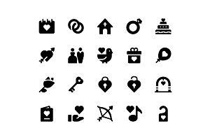 Wedding Glyph Icons