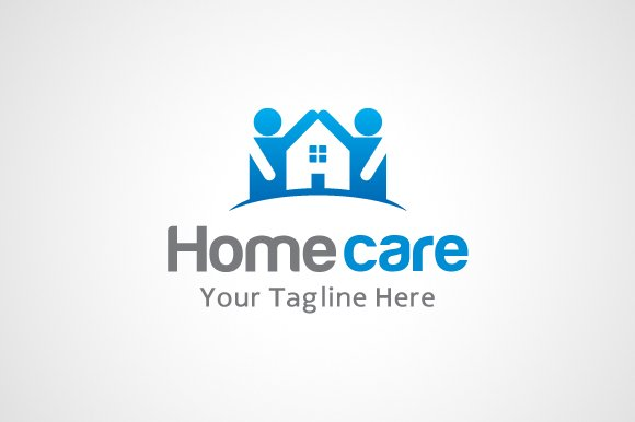 Home care logo logo templates creative market - Home health care logo design ...