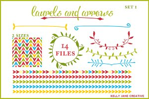Arrows & Laurels I Holiday Vector