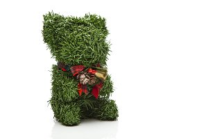 Tree teddy bear decorate christmas