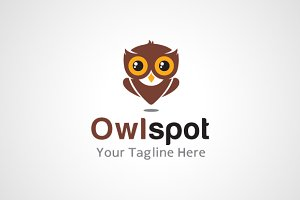 Owl Spot Location Logo