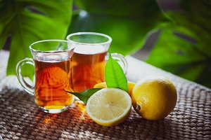 Fruits tea made from Limon