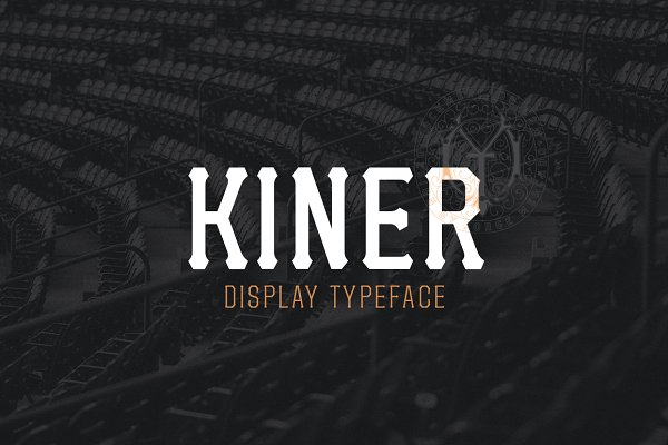 Display Fonts - Kiner Family Pack