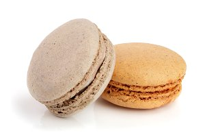orange and chocolate macaroon