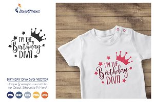 I'm the Birthday Dive SVG Vector