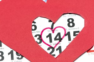 calendar with valentines day