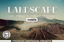 Landscapes Presets Lightroom Mobile by  in Actions