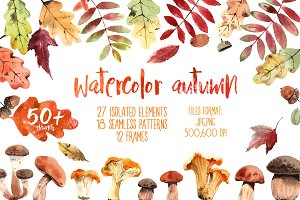 Watercolor autumn set!