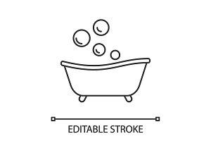 Baby bathtub linear icon