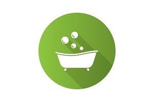 Baby bathtub icon