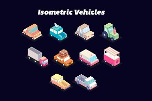 Isometric Car Game Assets