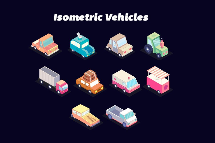 Isometric Car Game Assets ~ Illustrations ~ Creative Market