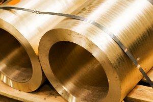 Industrial hardened steel cylinders