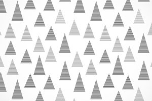 Simple striped triangles pattern
