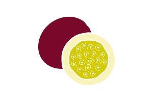 Passionfruit glyph color icon